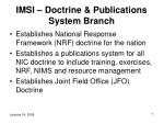 imsi doctrine publications system branch