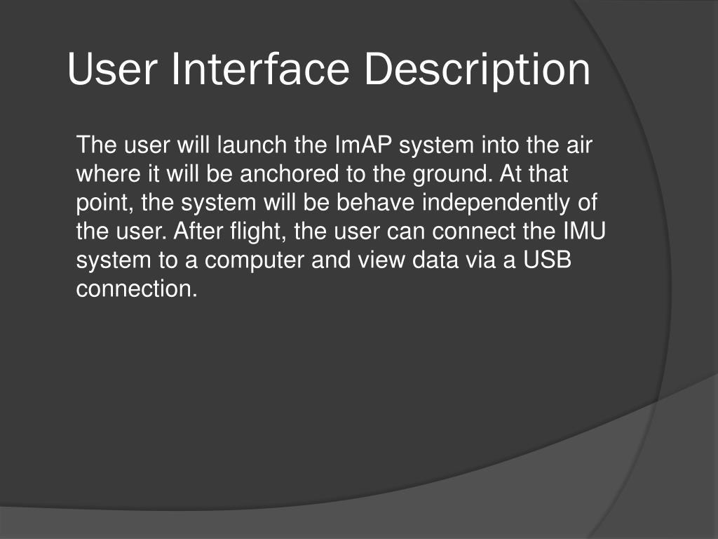 User Interface Description