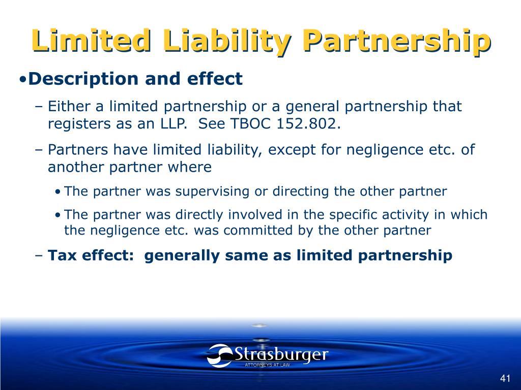 Limited Liability Partnership