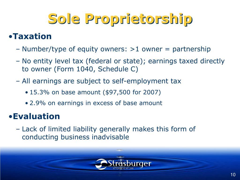 Sole Proprietorship