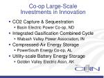 co op large scale investments in innovation
