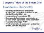 congress view of the smart grid