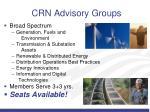 crn advisory groups