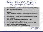 power plant co 2 capture key challenges to retrofits
