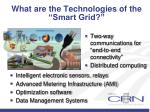 what are the technologies of the smart grid