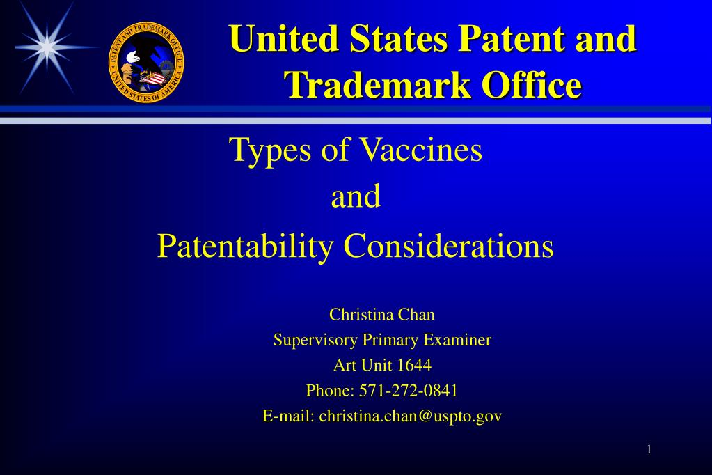 United States Patent and