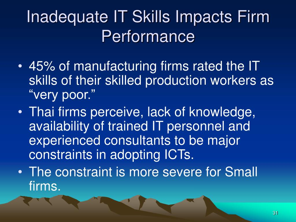 Inadequate IT Skills Impacts Firm Performance