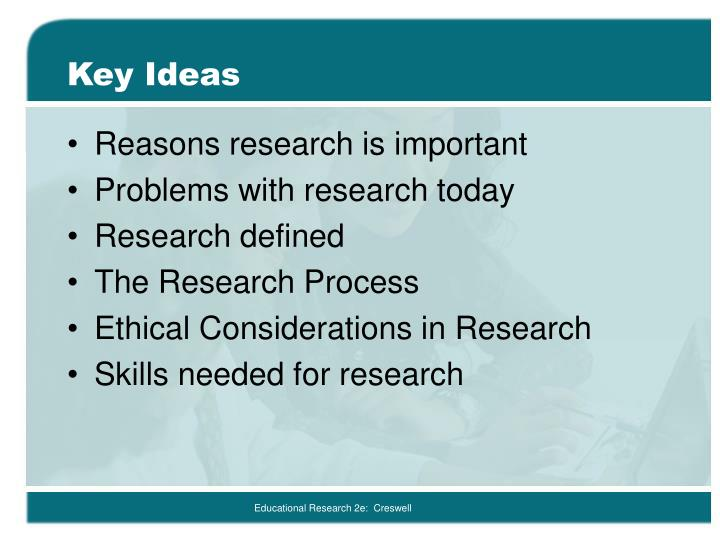 reasons for educational research