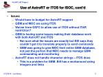 use of astrort or itos for isoc cont d3