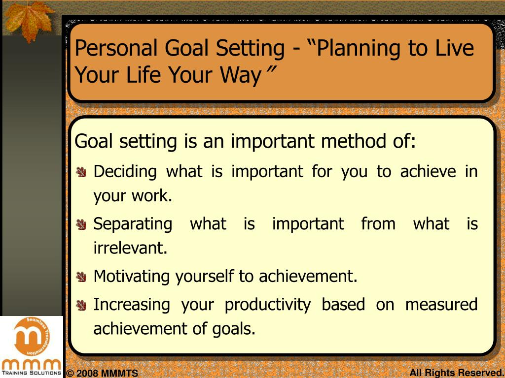 planning to live your life your way essay