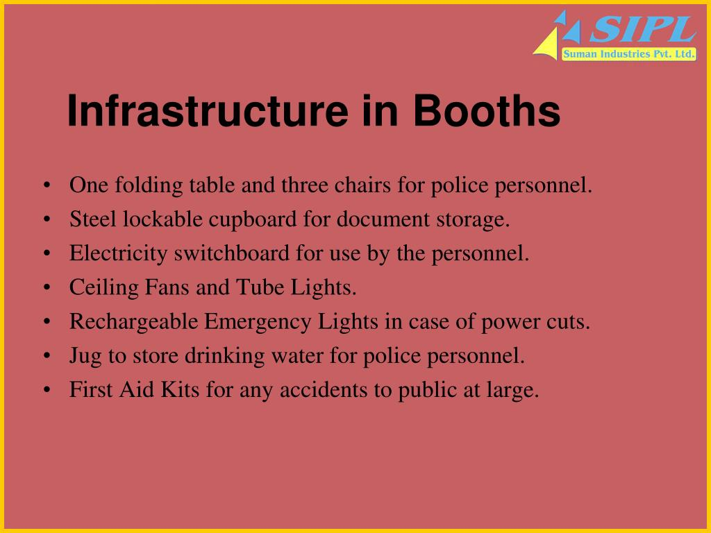 Infrastructure in Booths