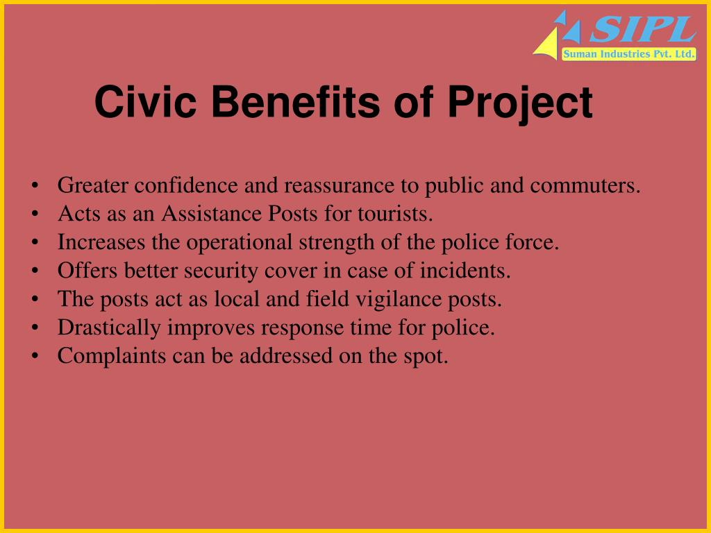 Civic Benefits of Project