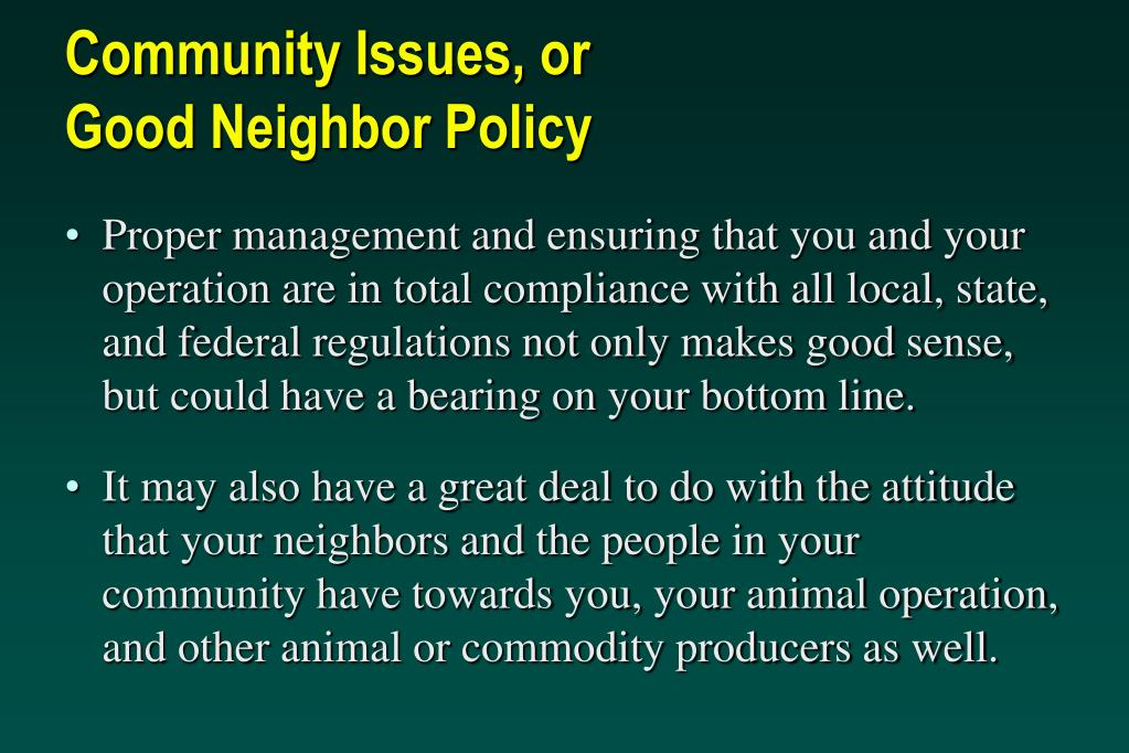 Community Issues, or