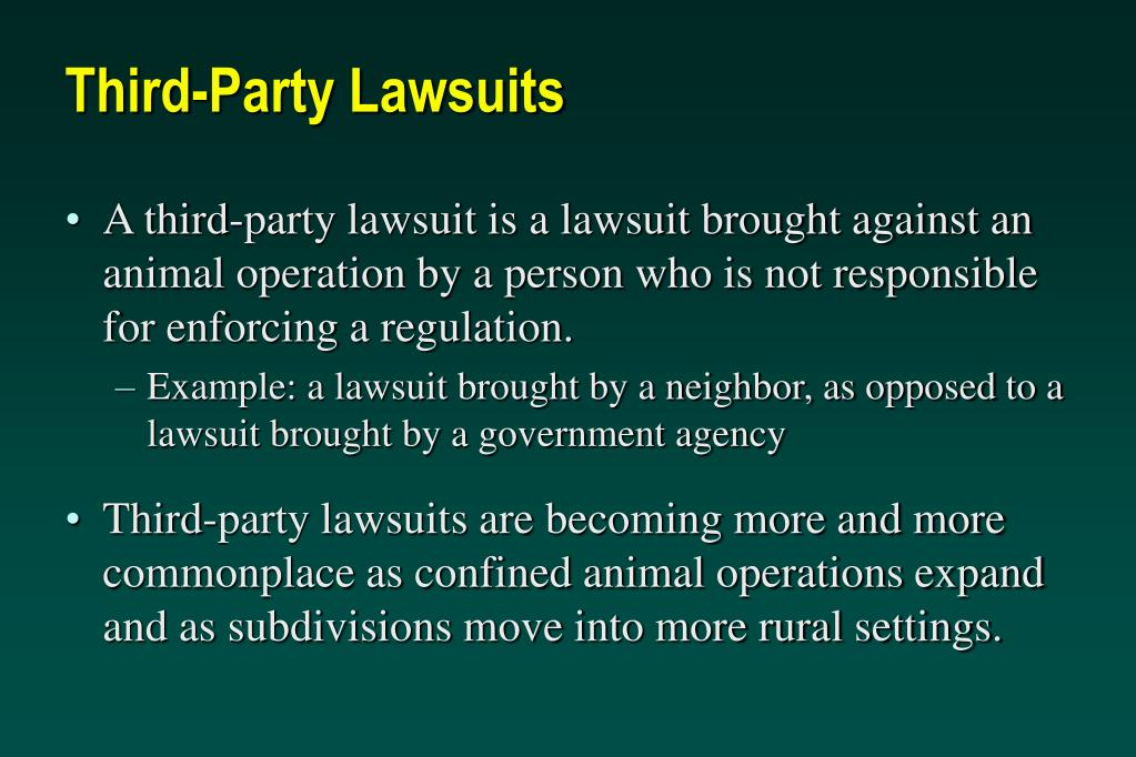 Third-Party Lawsuits