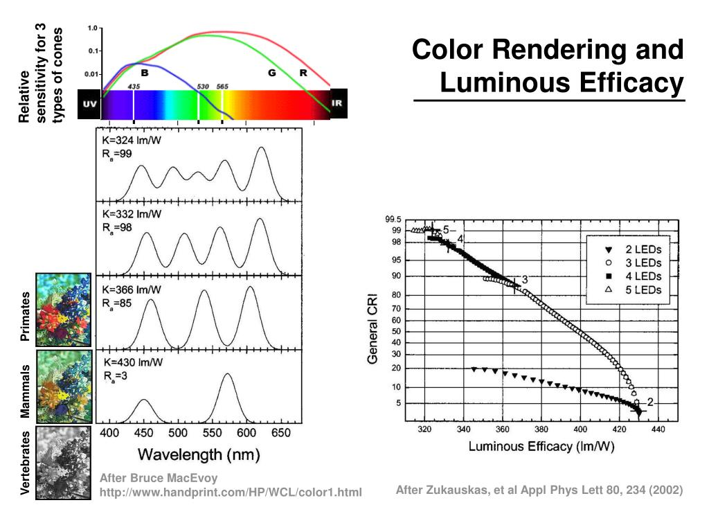 Color Rendering and Luminous Efficacy
