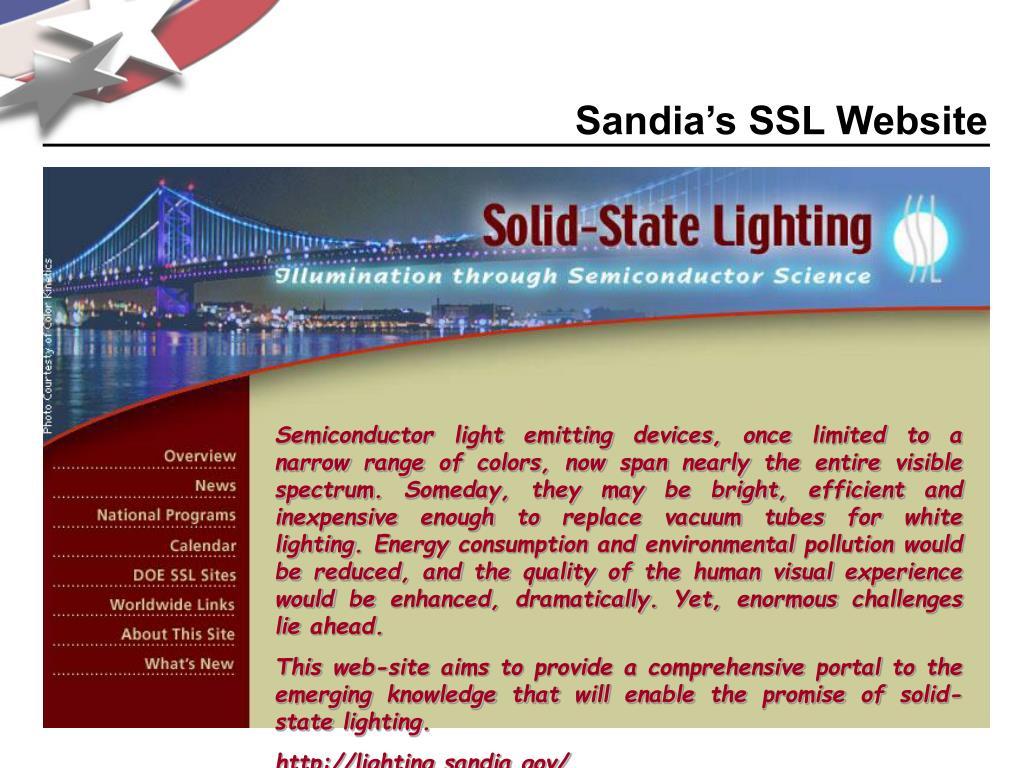 Sandia's SSL Website