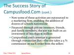 the success story of campusfood com cont