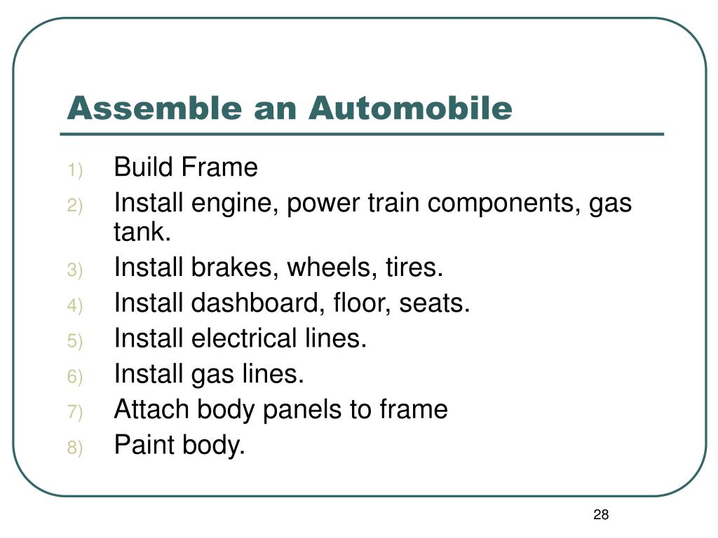 Assemble an Automobile