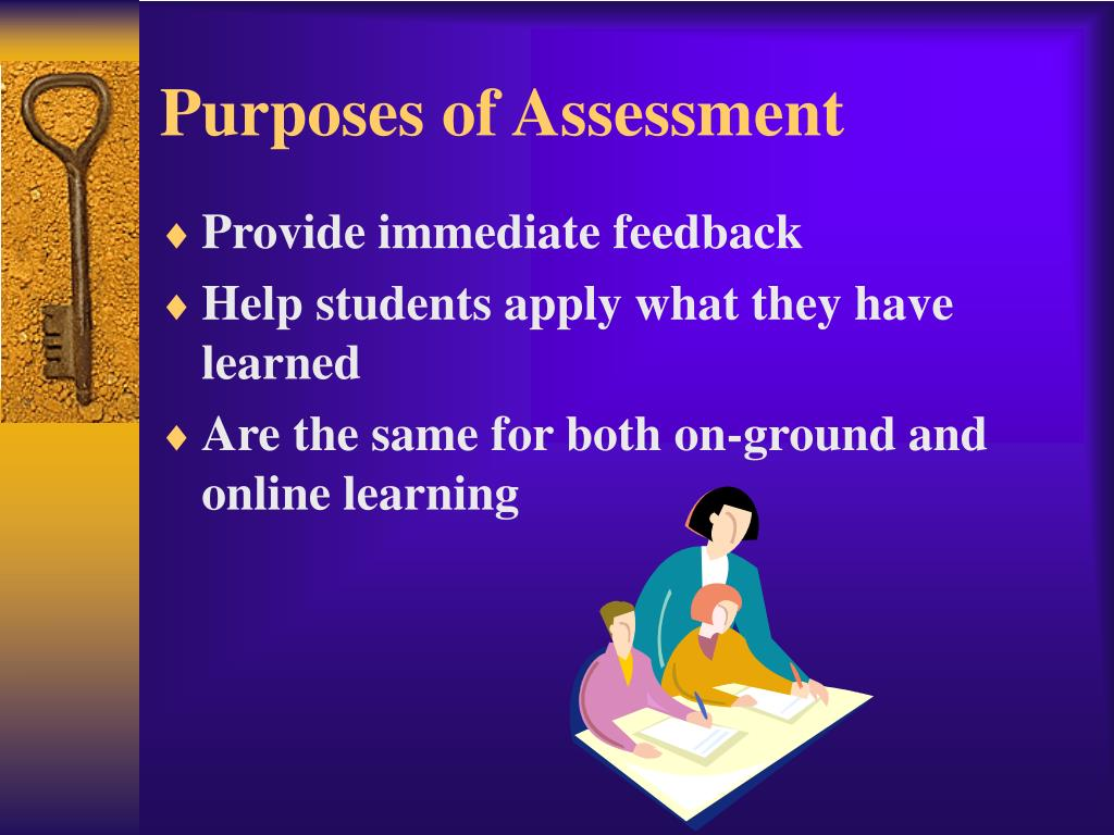 Purposes of Assessment