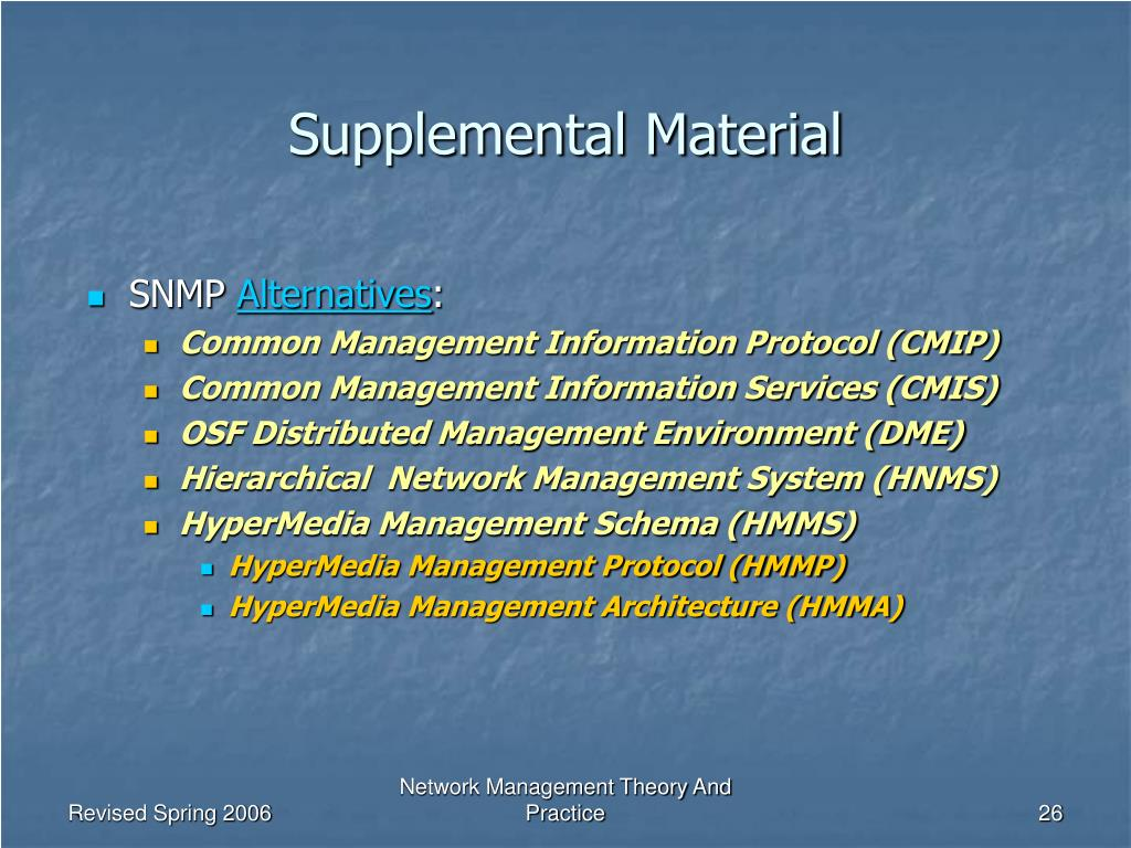 a comparison of cmip and snmp network management