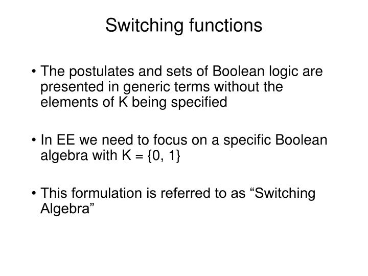 switching functions n.