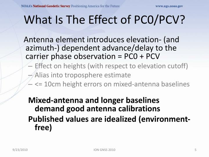 What Is The Effect of PC0/PCV?