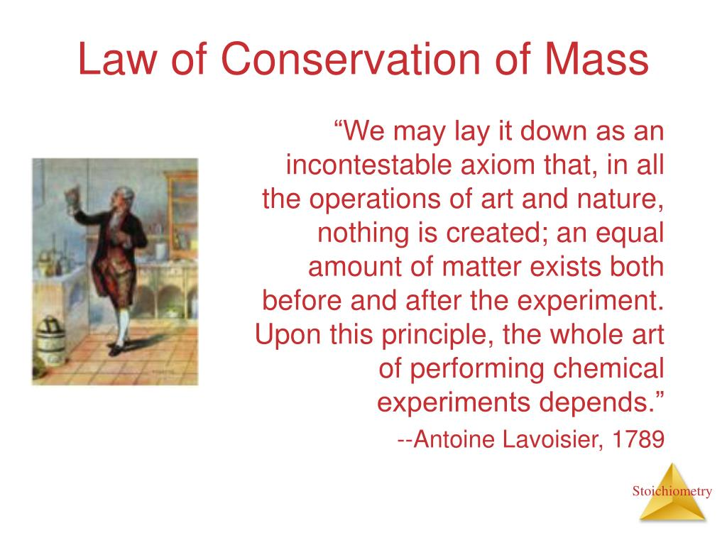 law of conservation of mass l.