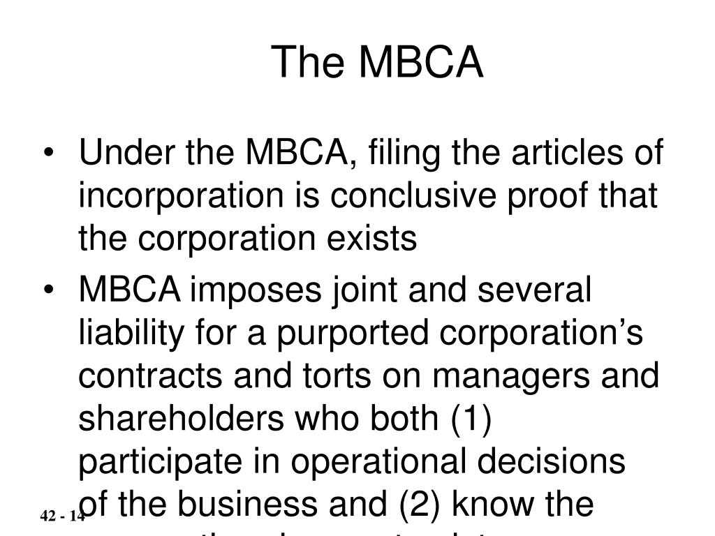 The MBCA