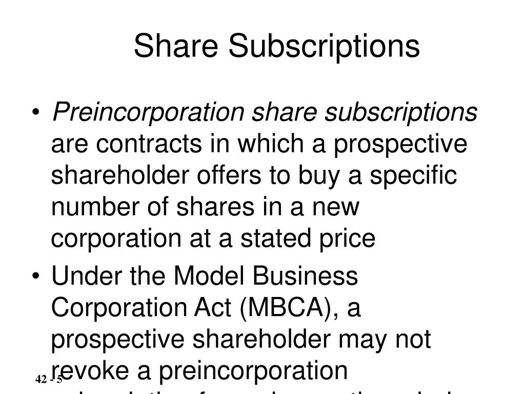 Share Subscriptions