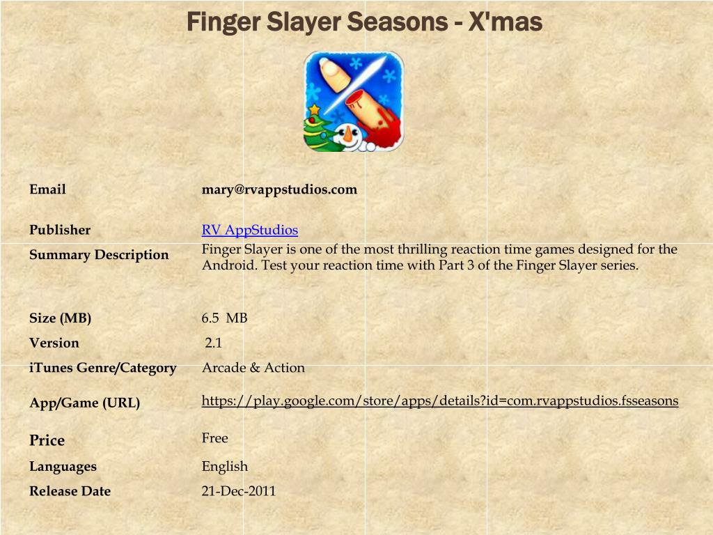 Finger Slayer Seasons - X'mas