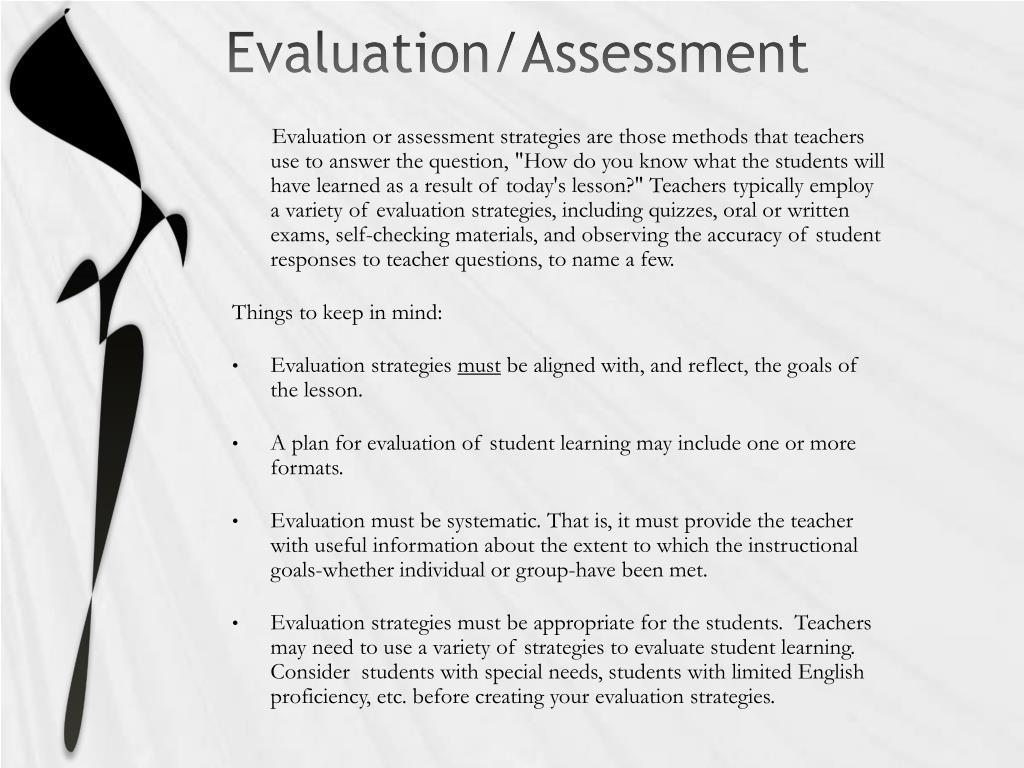 Evaluation/Assessment