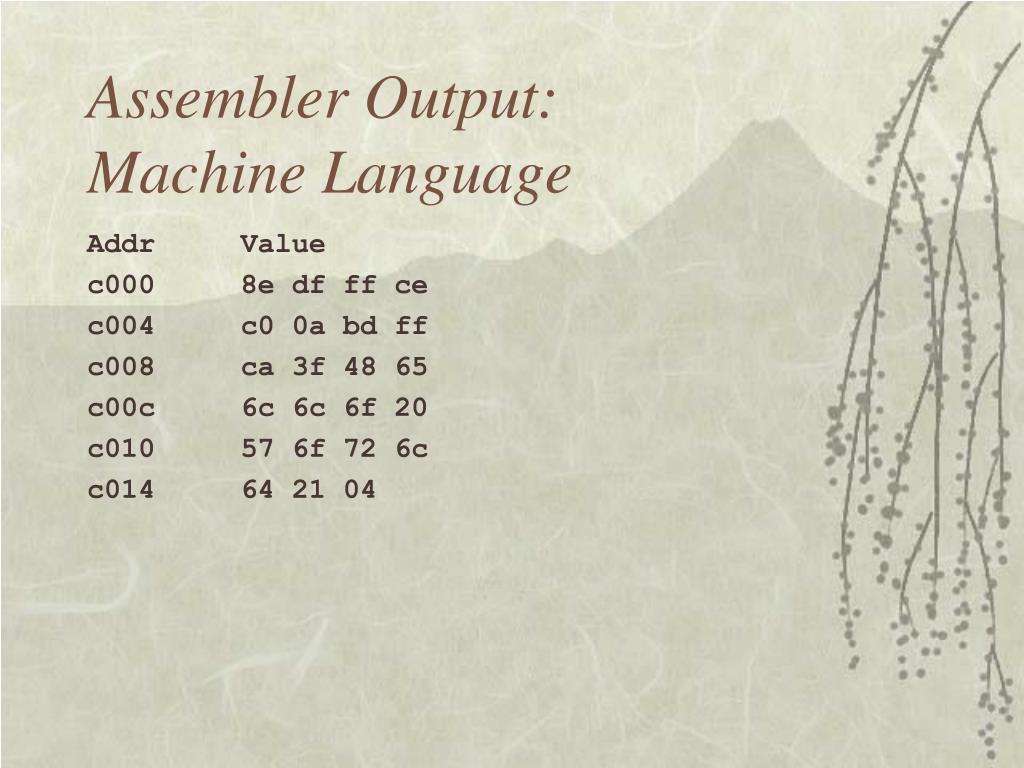 Assembler Output: