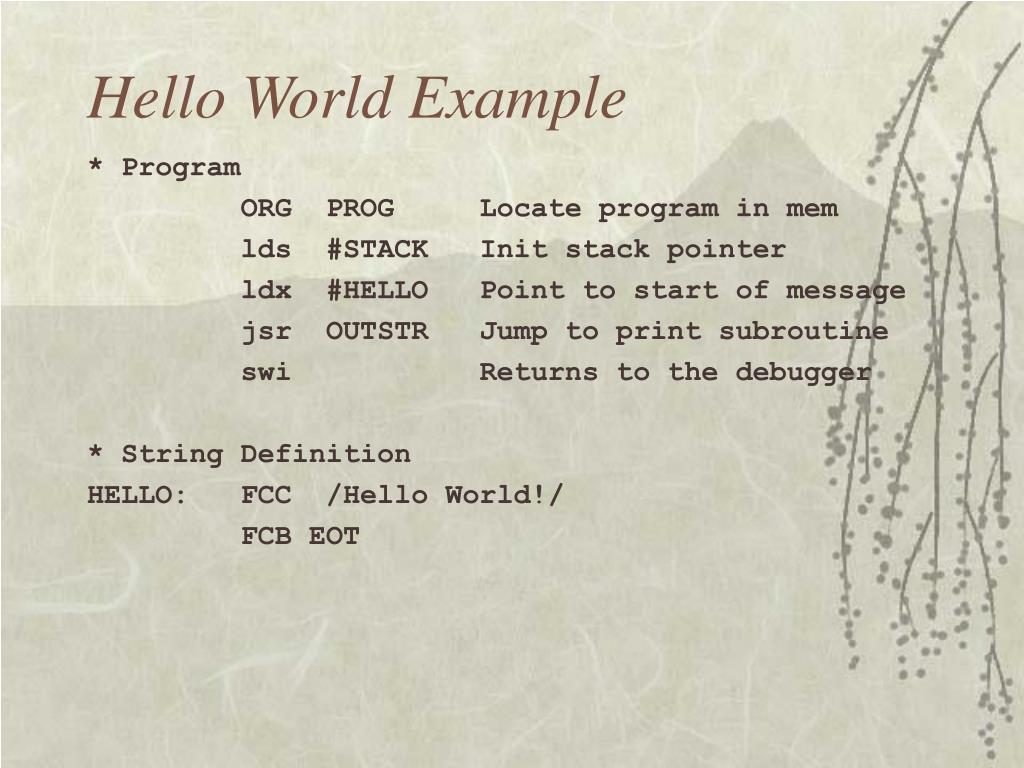 Hello World Example