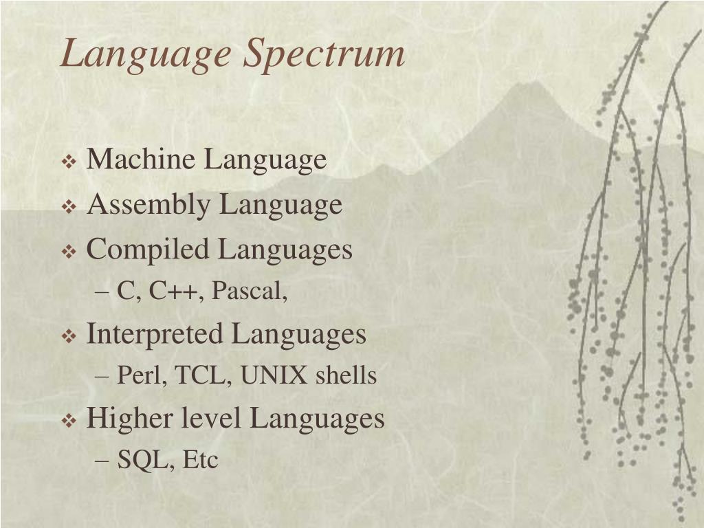 Language Spectrum