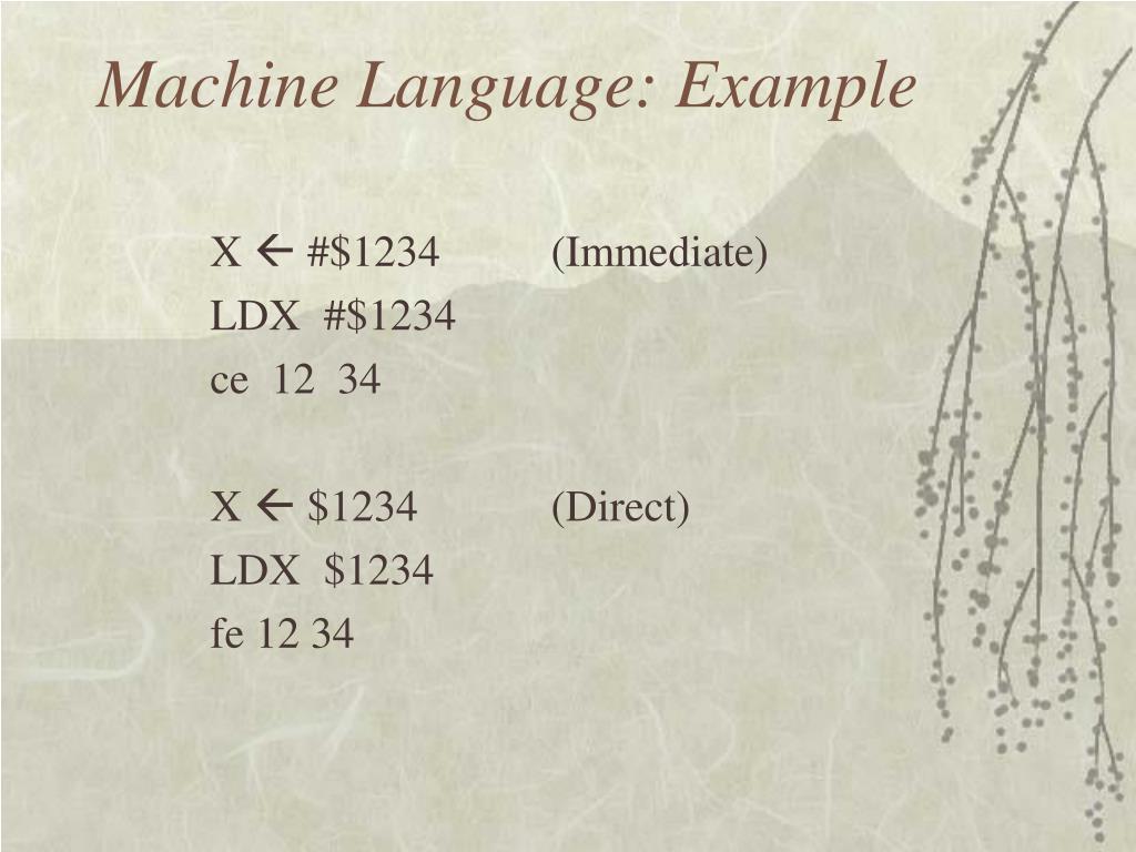 Machine Language: Example