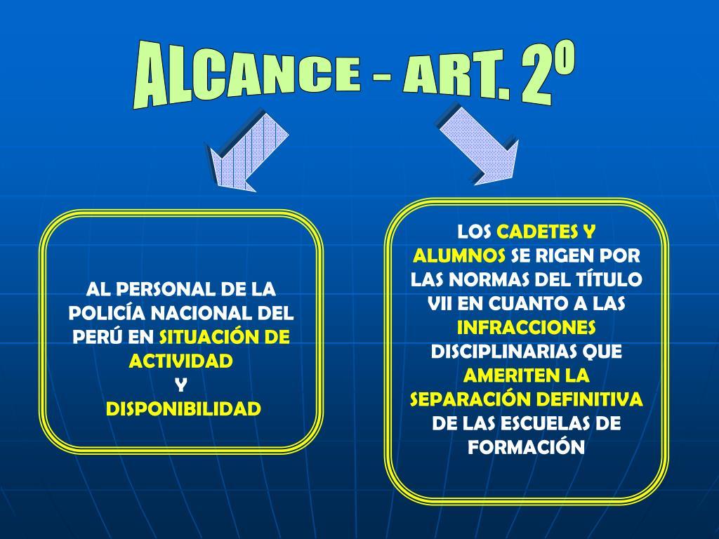 ALCANCE - ART. 2º