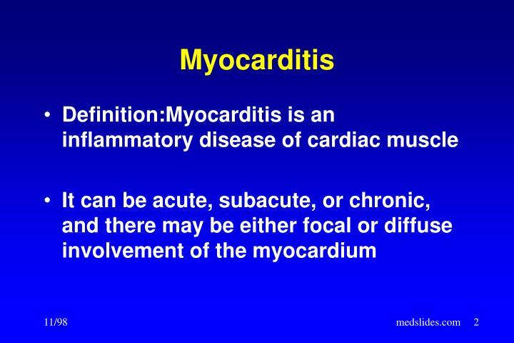 Ppt Myocarditis Powerpoint Presentation Id391008