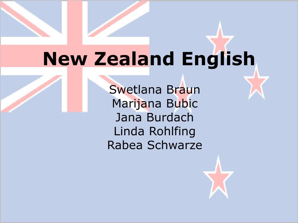 new zealand english l.