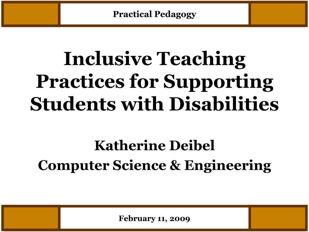 inclusive teaching practices for supporting students with disabilities l.
