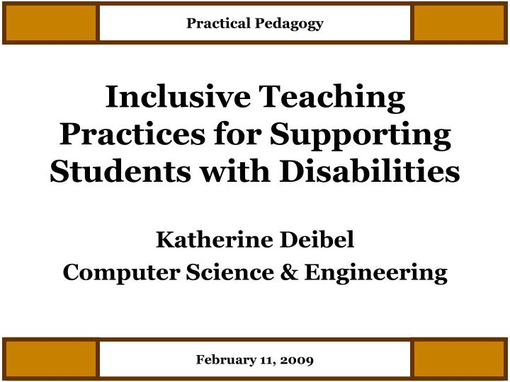 inclusive teaching practices for supporting students with disabilities n.