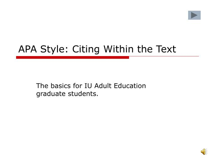 citing an essay in text apa