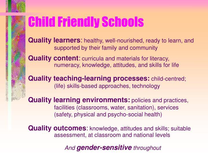Child friendly schools