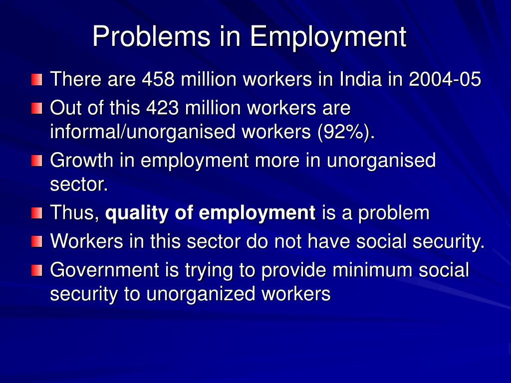 Problems in Employment