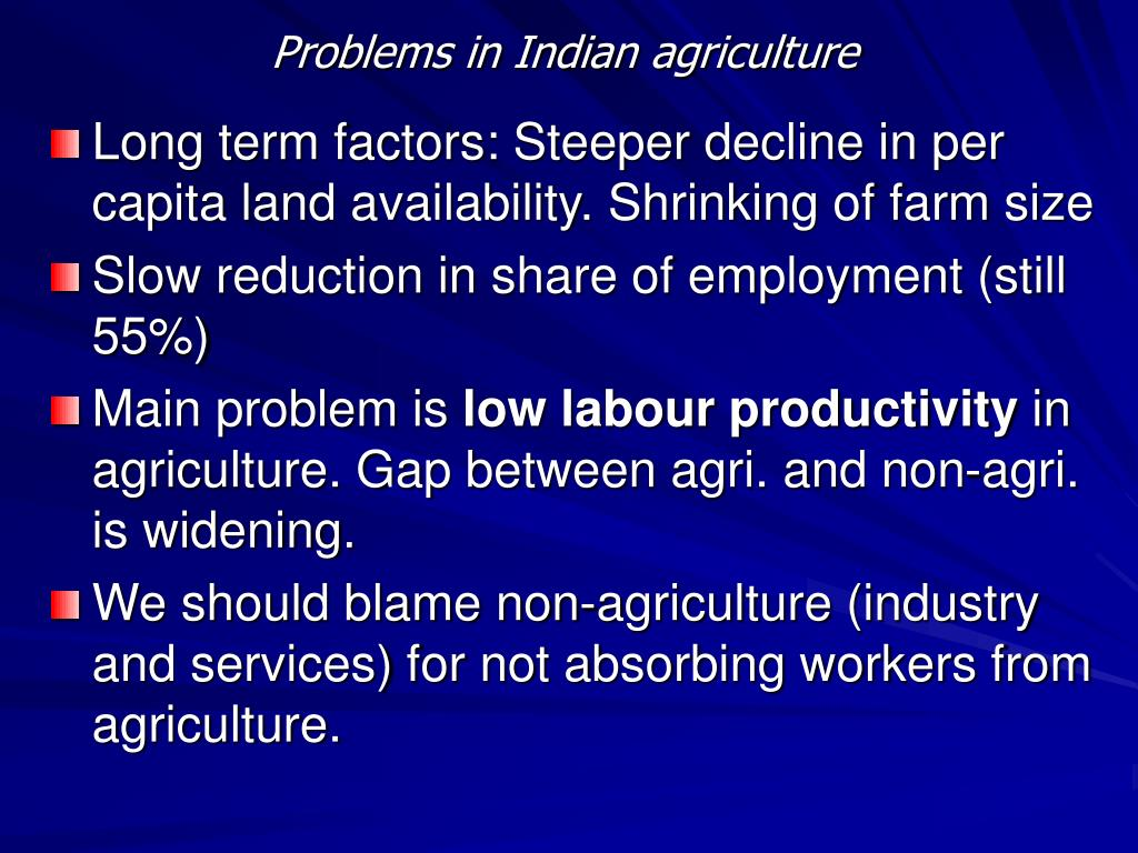 Problems in Indian agriculture