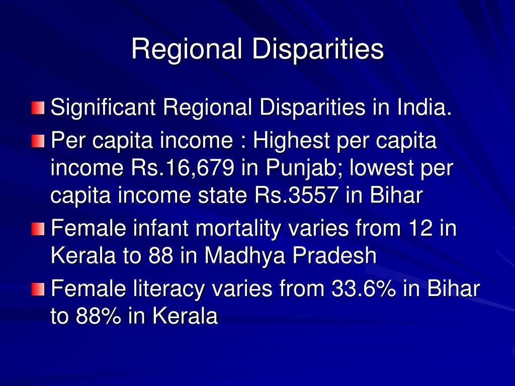Regional Disparities