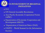 us involvement in regional initiatives