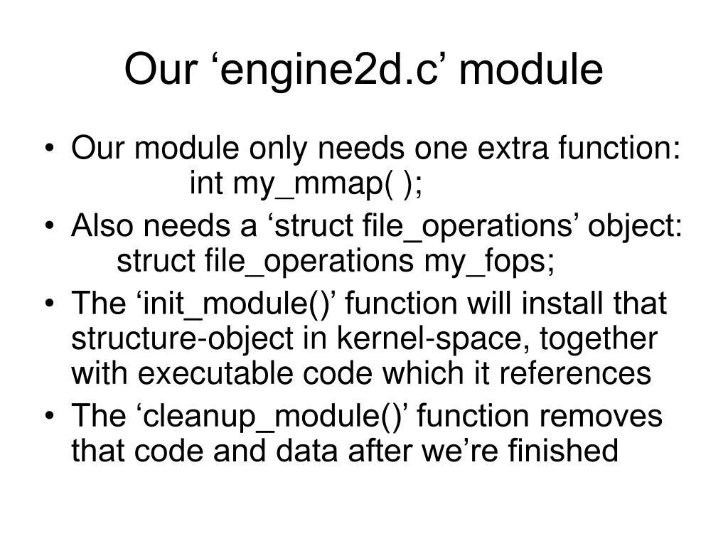 Our 'engine2d.c' module