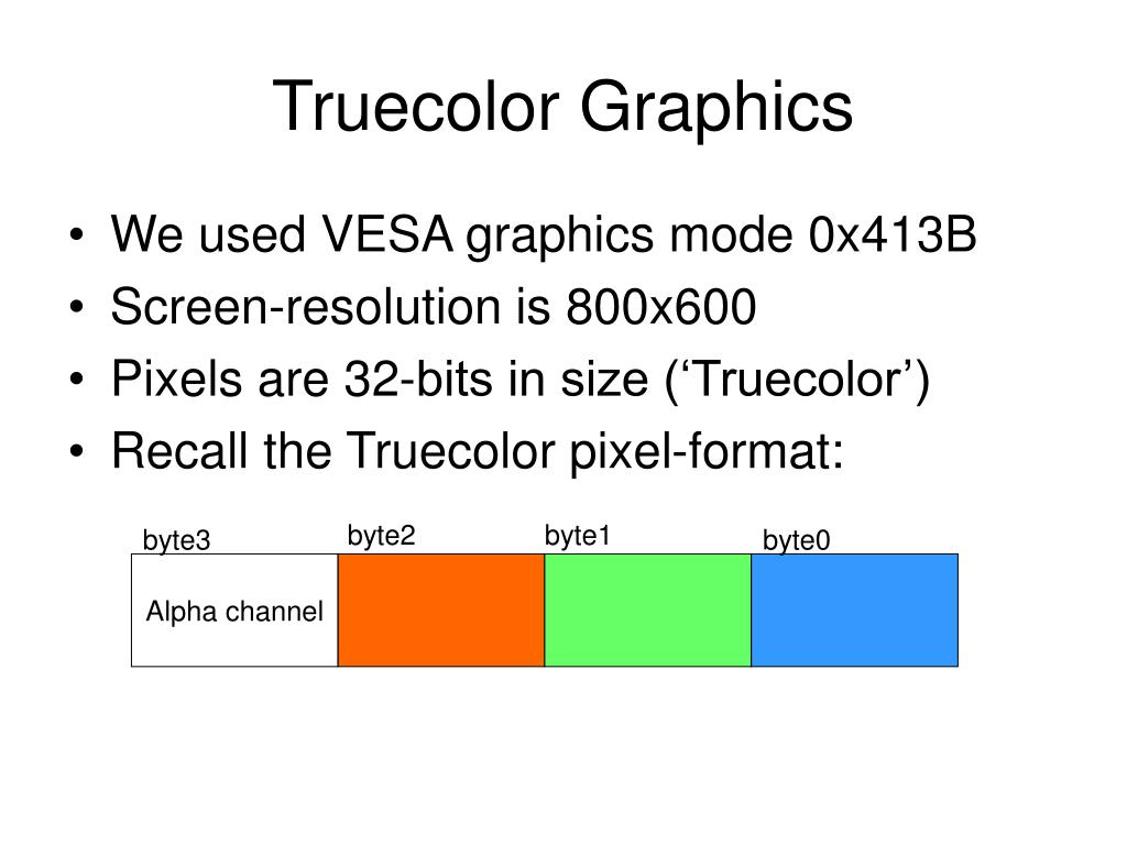 Truecolor Graphics