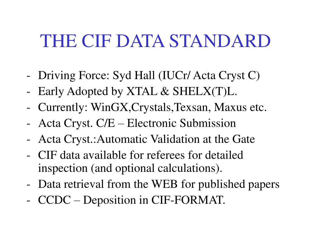 PPT - Crystal Structure Validation : The IUCr tool to