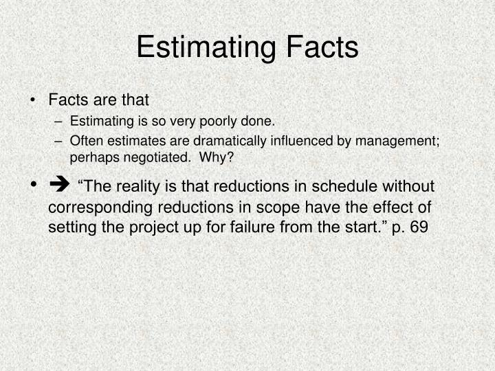 Estimating Facts